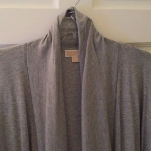 Plus sized Michael Kors gray shrug